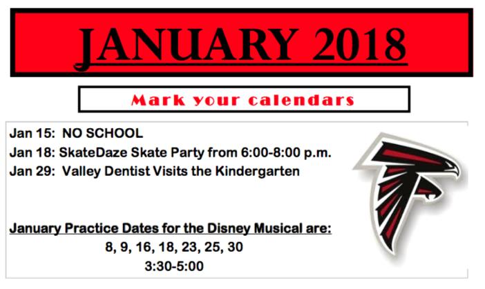 dc west community schools elementary newsletter january 2018