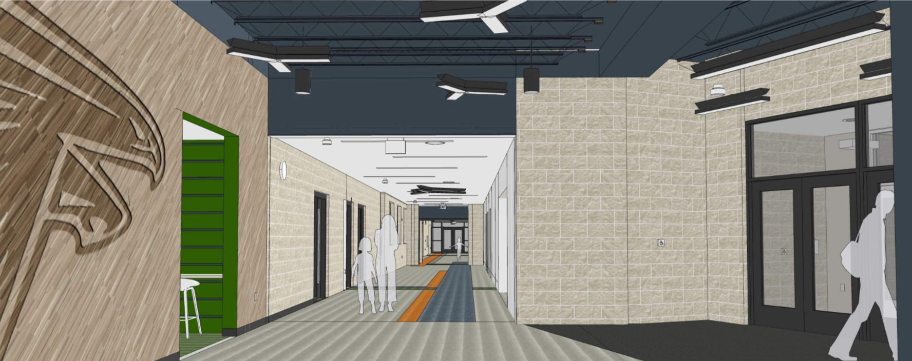 Interior view of the Lobby/Front Entrance.