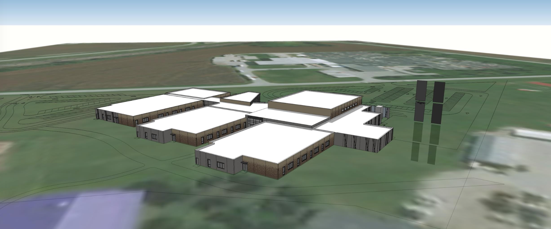 Exterior Pictures of the New DC West Elementary School